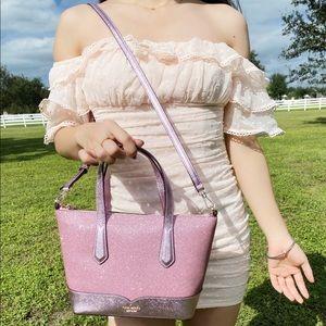 Kate Spade Glitter Satchel/Crossbody Rose Pink
